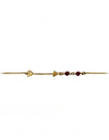 bracciale-oro-freccia-e-agate-bordeaux__