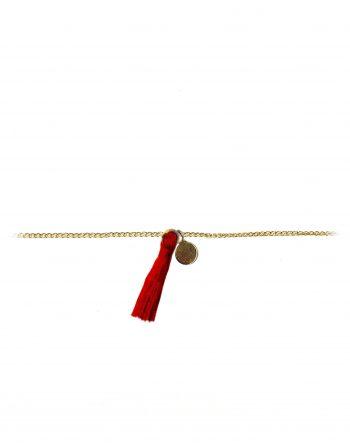 bracciale-oro-nappa-rossa-e-dischetto_