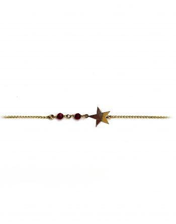 bracciale-oro-stella-piccola-e-agate-bordeaux__