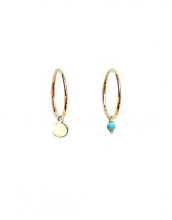 orecchini-cerchio-dischetto-turchese-oro_