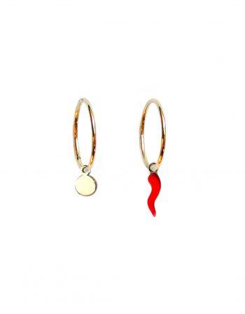 orecchini-cerchio-dischetto-cornetto-oro_