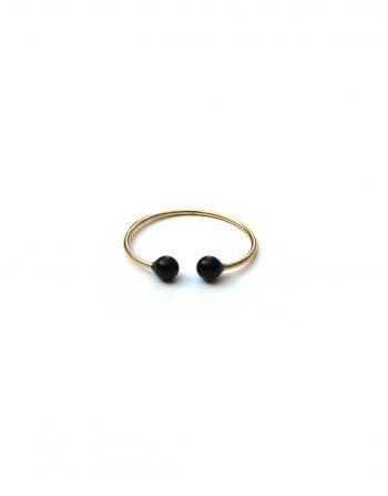 anello-filo-doppia-pallina-nero-oro
