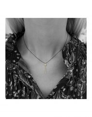 invisibile-bacchetta magica-oro-filo nero-indossato