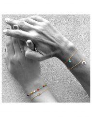 Bracciali crescent multicolor turchese micro stella