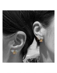 Orecchini orecchini traingolo grande oro