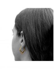 VYANA orecchini oro indossati_2