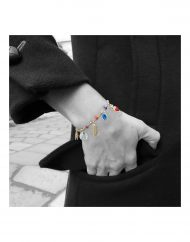bracciale rosario boho indossato_