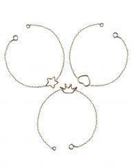 bracciale stella-cuore-corona a filo in oro_18kt_