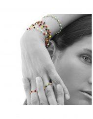 bracciali rosario indossati Linda
