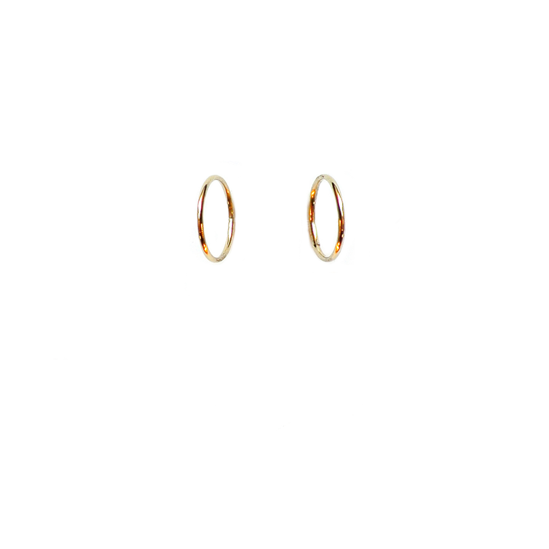 Preferenza ORECCHINI A CERCHIETTO PICCOLI IN ORO 18KT (10MM) – Giolina & Angelo TE97
