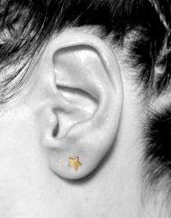 orecchini micro iniziale e micro stella