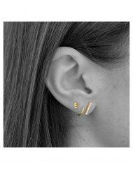 orecchino BARRETTA zirconi oro