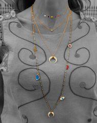 Collana lunga 80cm Boho charms vari oro – 1500€