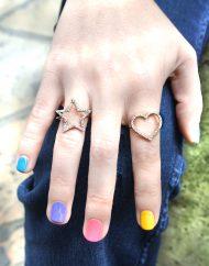 Iaia anelli cuore e stella zirconi