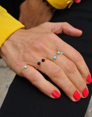 anelli rosario orbit doppi asfera nera indossato color