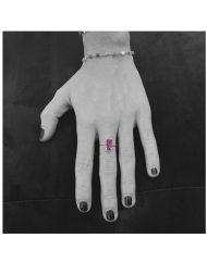 anello baguette ametista indossato