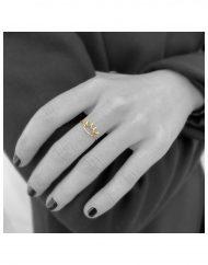 anello corona filo indossato
