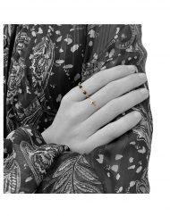 anello croce e rosario nero