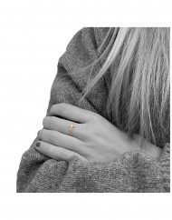anello croce filo oro