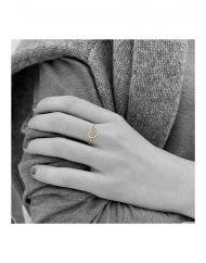anello cuore filo oro