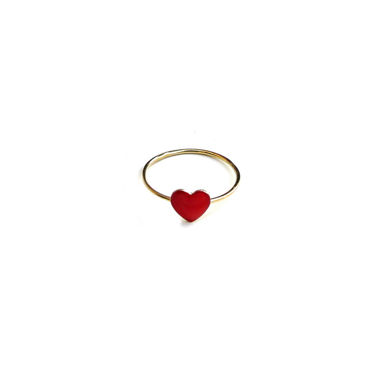 aspetto dettagliato 6af69 fedd4 anello-filo-cuore-rosso-grande-oro – Giolina & Angelo