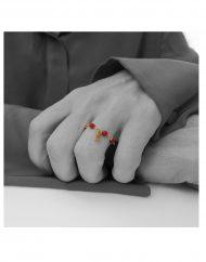 anello rosario agata bordeaux micro lettera