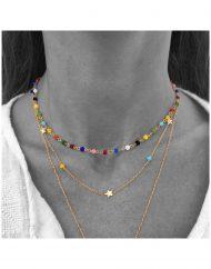 choker rosario multicolor – girocollo stelle alternate multicolor_