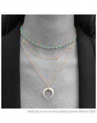 girocollo female – choker rosario turchesi – crescent moon 50cm