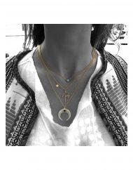 girocollo palma – crescent moon – turchese indossato copia