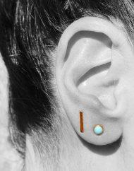 orecchino turchese e graffetta