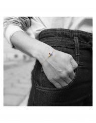 bracciale-croce-multicolor-oro