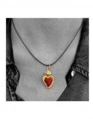 ciondolo-cuore sacro – grande-indossato